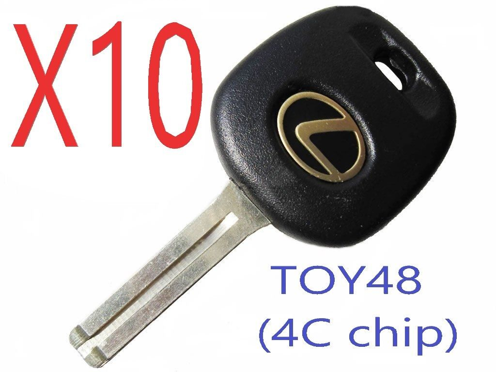 X10 TOY48 Transponder Chip Keys For Lexus 4C chip (short) Top Quality USA Seller