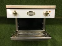 Lovely Lacanche Salamander Grill White and Brass appliance Oven Cooker