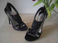 Black next shoes size 4