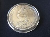Great Britain Victoria Silver Coin 1890 Crown