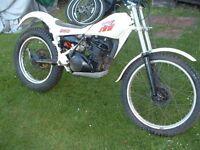 yamaha ty250 classic trials bike