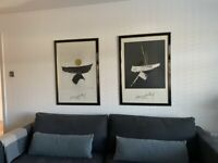 Harry Disberg Contemporary/Abstract pair of framed pictures.