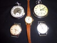 job lot of 2 pocket watches and 3 watches £40 ono