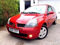 **STUNNING** 2005 RENAULT CLIO EXTREME RED 1.2 16V PETROL 3 DOOR HATCH MANUAL
