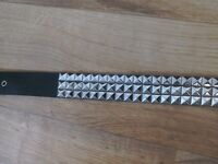 Wholesale/bulk 38 x studded punk style belts, faux leather, pyramid studs, GOOD PROFIT EARNERS!