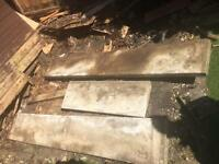 Free concrete / paving slabs that were the underneath of a garden shed.