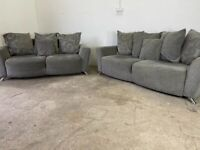Grey dfs 3&2 seater sofas, couches, furniture 🚚WE ARE STILL DELIVERING🚛