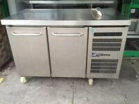 COUNTER BENCH FRIDGE CATERING COMMERCIAL KEBAB PIZZA CAFE SANDWICH CHICKEN RESTAURANT SHOP KITCHEN