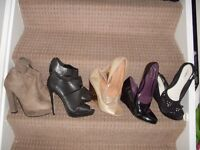 bundle of ladies new size 5 shoes and boots