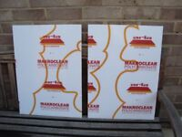 Clear Perspex sheets (new)
