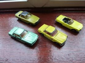 collectible vintage old diecast toy car collection Mercedes models Corgi, Majorette
