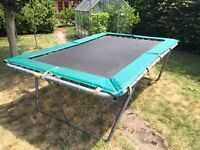 Playtime trampoline 6ft x 8 ft 9inches.