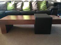 Dwell walnut solid wood coffee table