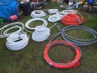 Job lot of Underfloor heating pipes and tracking