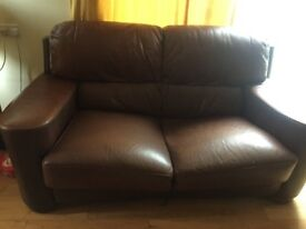 brown leather sofa going for free