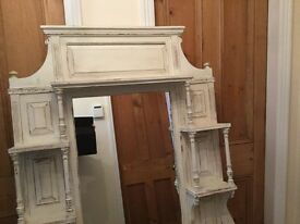 Overmantel mirror unit vintage