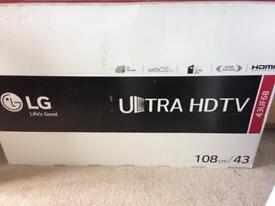 """Tv LG 43UF68, 43"""" ultra HD, BROKEN SCREEN!"""