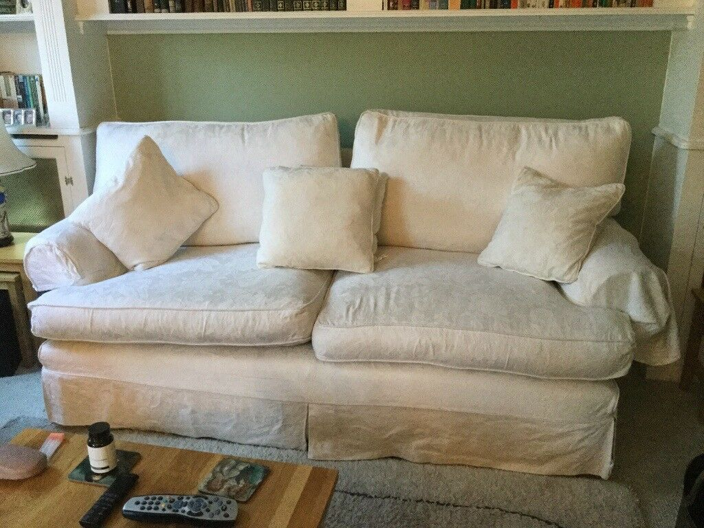 Astounding Two Pre Loved Multi York Sofas With Cream Covers For Quick Sale In Sutton Coldfield West Midlands Gumtree Beatyapartments Chair Design Images Beatyapartmentscom