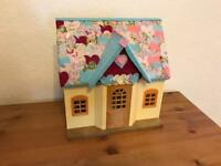 Sylvanian Cottage. Patchwork heart themed