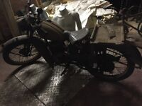 Vintage bsa motorcycle found in barn vintage restoration project very rare bike