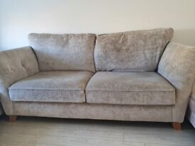 FOR SALE- SCS Sofa and Pouffe. £300.