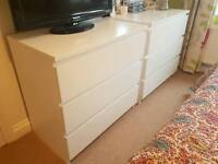 Ikea Malm 3 drawer chest of drawers.