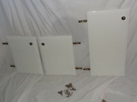 Utility Cabinet Doors with White Gloss Finish, Hinges and Chrome Handles