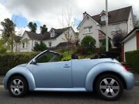 STUNNING! IMMACULATE (2005) VOLKSWAGEN BEETLE CABRIOLET 1.6 ONLY 75K MILES, FSH+TIMING BELT REPLACED