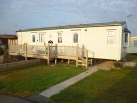 TO LET LUXURY 4 BIRTH STATIC CARAVAN ON MABLETHORPE CHALET PARK we still have cheap bookings left