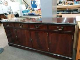 Dark wood sideboard delivery available