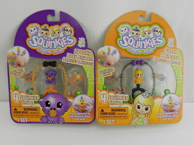 2 Squinkies Spooky Baby  Bracelet & Ring Set NEW Halloween Special Edition Lot for sale  Shipping to India