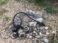 Garden water feature. Complete, rocks, pump, power supply, lights, plymouth