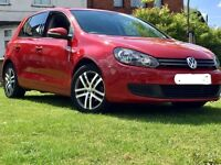 VW Golf 1.4 Tsi 5dr Turbo Petrol-Alloy Wheels-Red Colour In Excellent Condition-MOT for 1 year