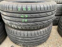 Bridgstone Tyres 225/45/19.205/55/16.195/65/15.40/18.255/35.215/235/245/50/60/17/20/295/21 Used