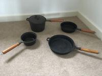 Solid Cast Iron set of pans