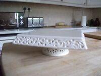 Cake Stand - Cream Ceramic