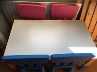 Ikea kids table and four chairs