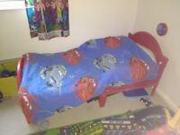 Disney cars toddler bed set including bed!