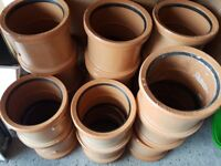 110mm coupling sockets - underground drainage - £1 each