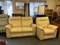 Stunning Parker Knoll two seater sofa and arm chair