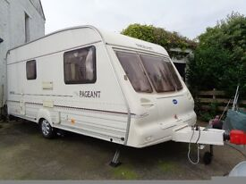 Bailey Pageant Imperial 2001 2 berth caravan, in good condition, includes awning