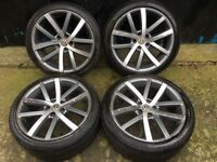 18'' VW VANCOUVER STYLE ALLOY WHEELS TYRES ALLOYS GOLF GTI GTD GT MK5 MK6 CADDY PASSAT JETTA 5x112