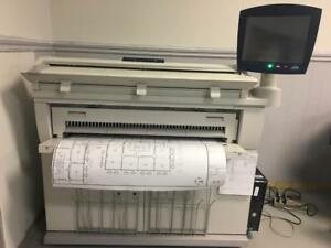 "36"" Xerox Wide Format 6605 Laser Engineering Digital Plan Printer B/W Copy Colour Scan Demo Unit Only 14k Square foot"