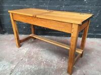 Beautiful vintage double school desk