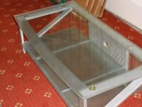 tv glass top table