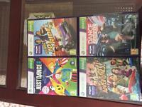 4 x Xbox 360 Kinect games