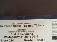 Stone Roses Ticket Leeds 21st June