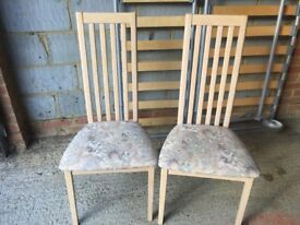 A set of four good quality dining chairs in excellent condition.