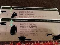 2 x Wales v Ireland 6 Nations 2017 Tickets