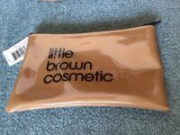 Genuine Brand New Little Brown cosmetic purse from Bloomingdale's New Yor